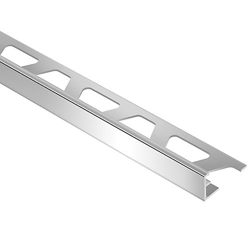Schiene Bright Chrome 3/8-inch x 8 ft. 2-1/2-inch Anodized Aluminum L-Angle Tile Edging Trim