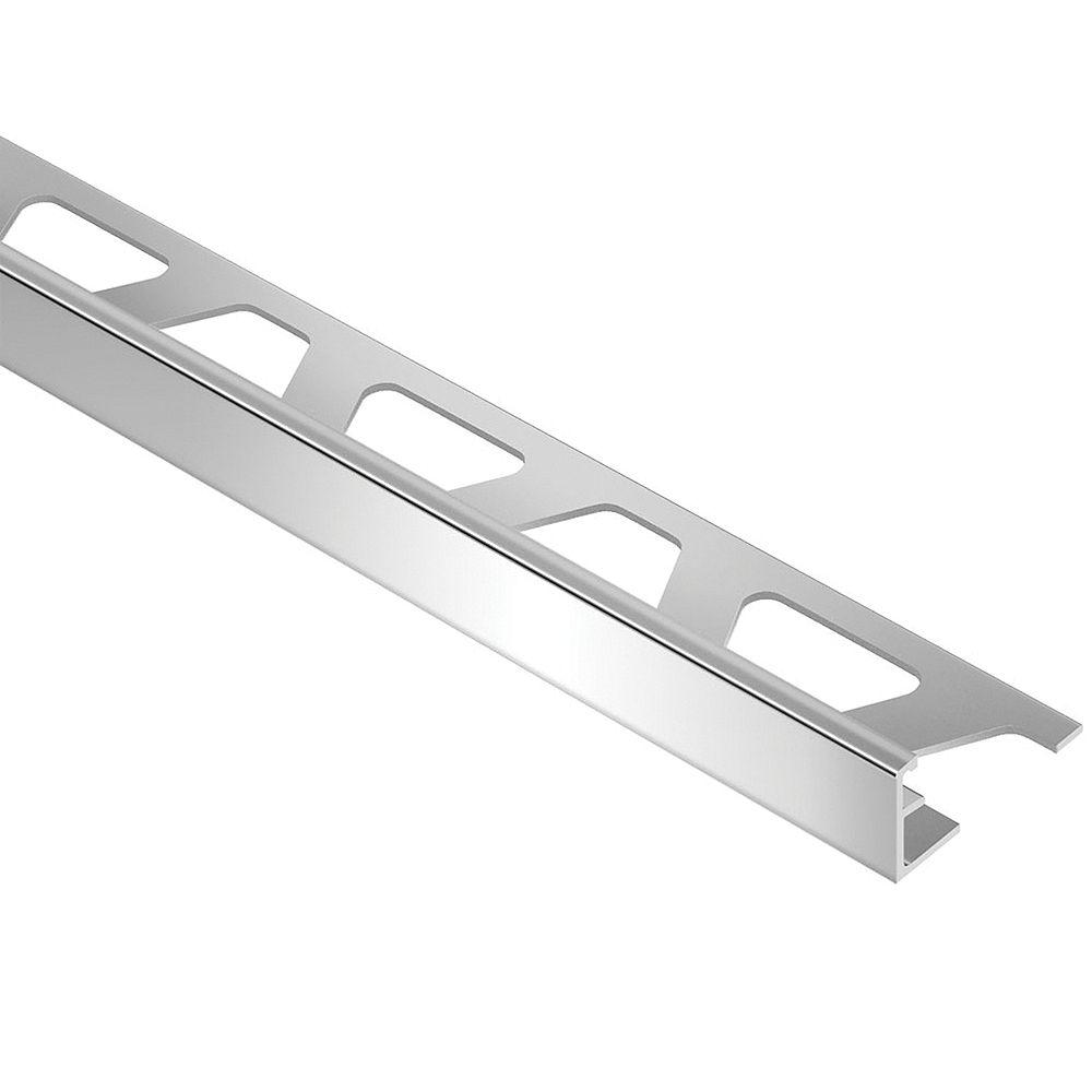 Schluter Schiene Bright Chrome 1/2-inch x 8 ft. 2-1/2-inch Anodized Aluminum L-Angle Tile Edging Trim