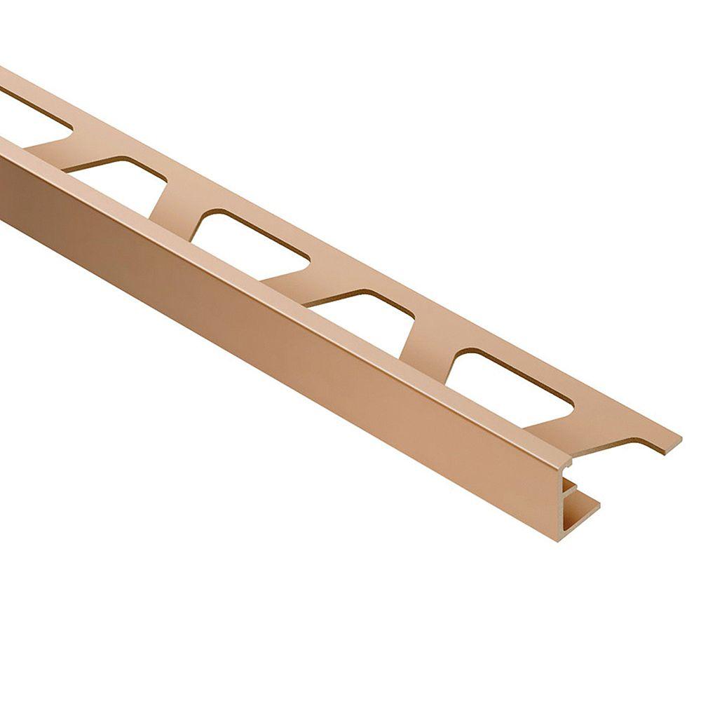Schluter Moulure pour carreaux 1 cm x 2,5 m (3/8 po x 8 pi 2 1/2 po) en aluminium anodisé finition cuivre/bronze satiné Jolly