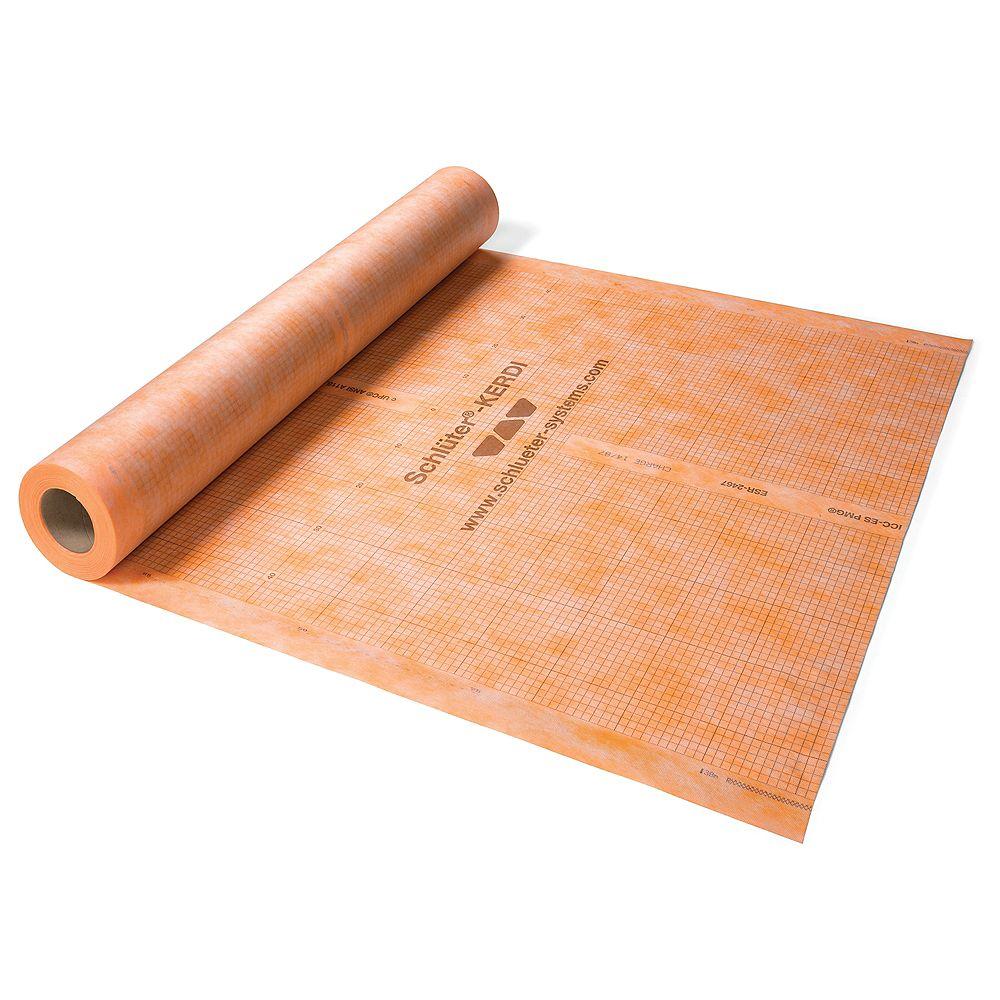 kerdi 3 ft 3 inch x 16 ft 5 inch waterproofing membrane 54 sq ft roll