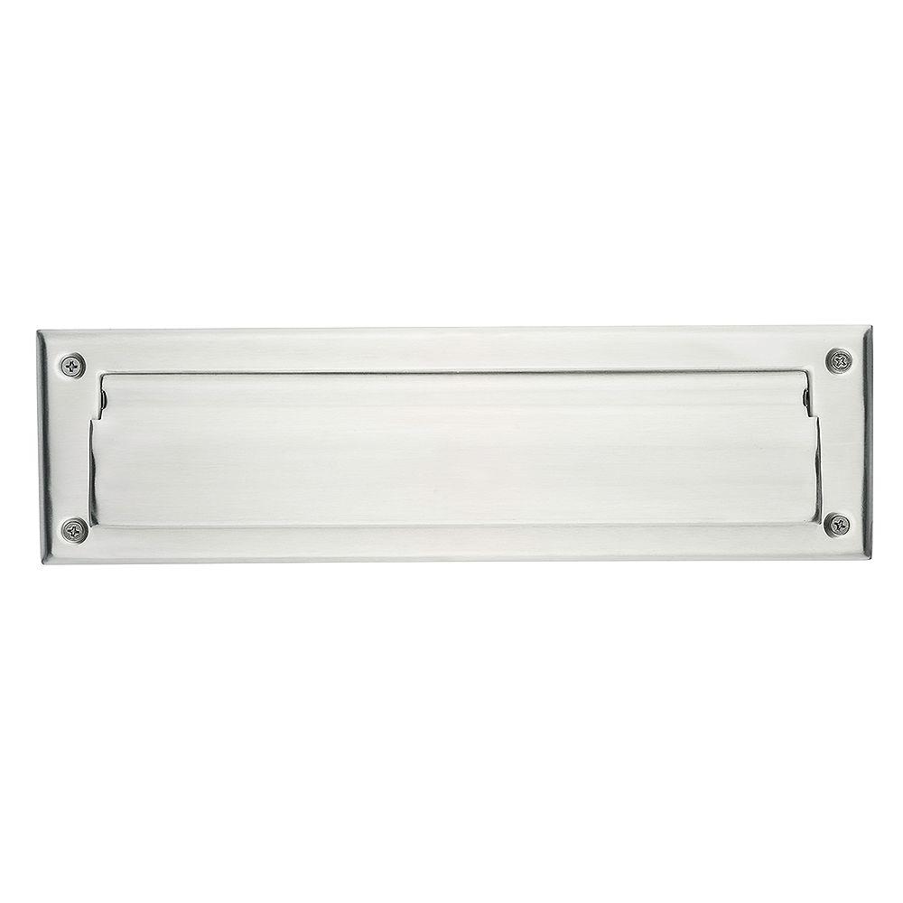 Taymor Fente à lettres en aluminium brossé de 1-7/8 po x 7 po