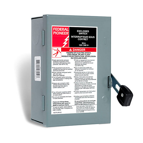 30 Amp General Purpose Single Pole Safety Switch