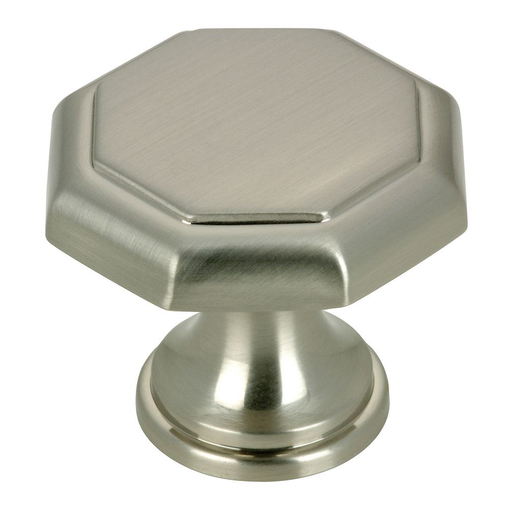 Richelieu Marseille Collection 1 3/16 in (30 mm) Brushed Nickel Traditional Cabinet Knob