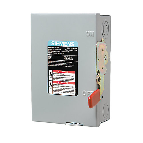 30A 2 Pole And Neutral 120V Fusible Switch