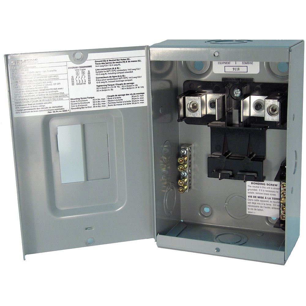 Siemens 2/4 Circuit 60A 120/240V Loadcentre
