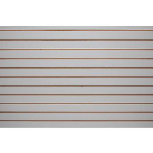 Slotwall 3/4-inch 4 x 8 Grey Melamine Finish