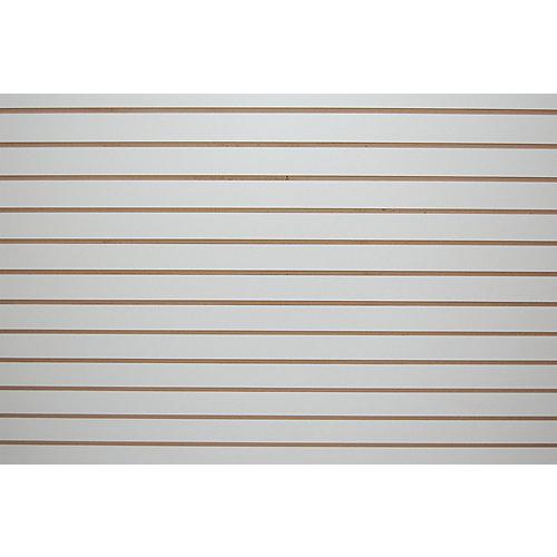 Slotwall 3/4-inch 4 x 8 White Melamine finish