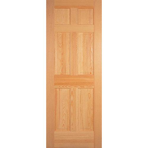 30-inch x 80-inch 6-Panel Clear Pine Door