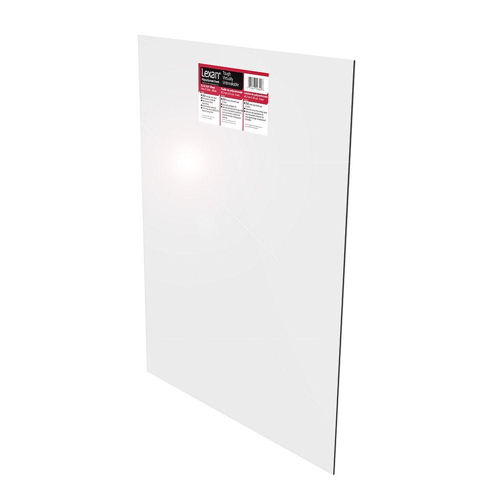 Lexan Polycarbonate Sheet - .093 Inch x 11 Inch x 14 Inch