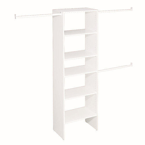 Selectives 5 ft. to 10 ft. Custom Closet Organizer in White