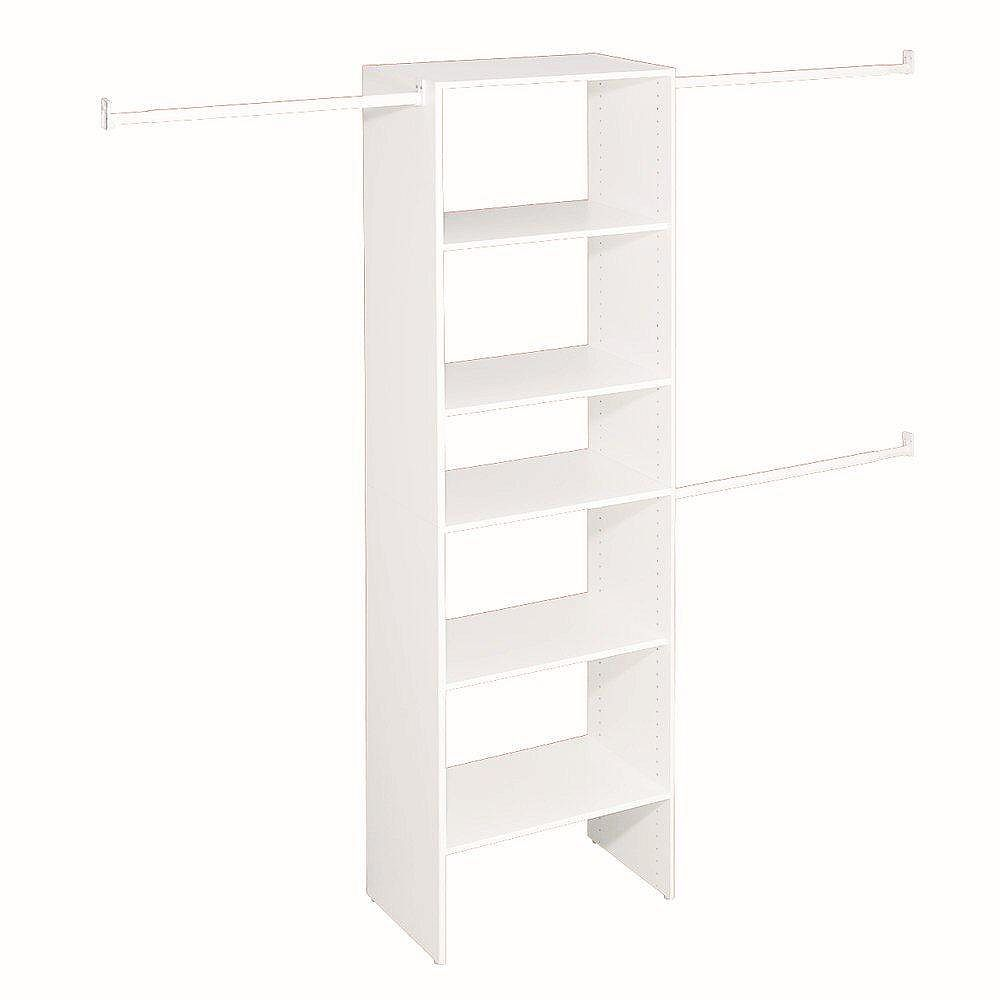 ClosetMaid Selectives 5 ft. to 10 ft. Custom Closet Organizer in White