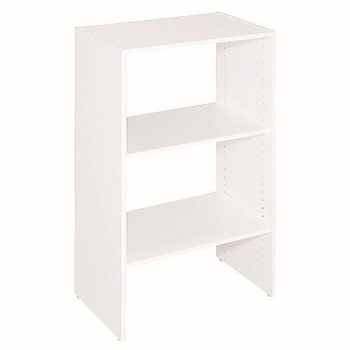 Selectives 14.5 -inch x 41.5 -inch x 25 -inch 3-Shelf White Stackable Organizer