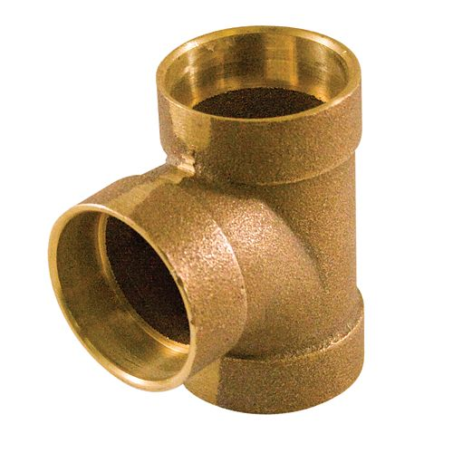 Fitting Cast Brass Sanitary Tee 1-1/2 Inch Drain, Waste & Vent