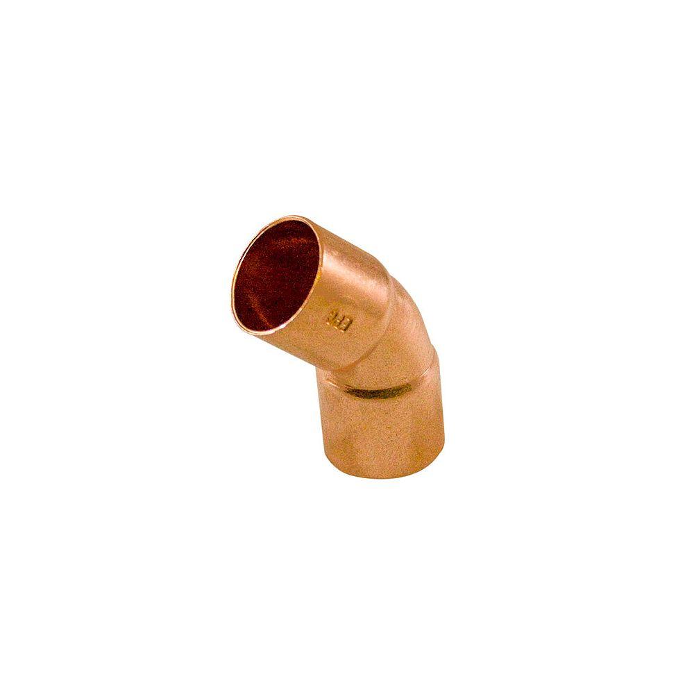 Aqua-Dynamic Fitting Copper 45 Degree Elbow 1 Inch Copper To Copper