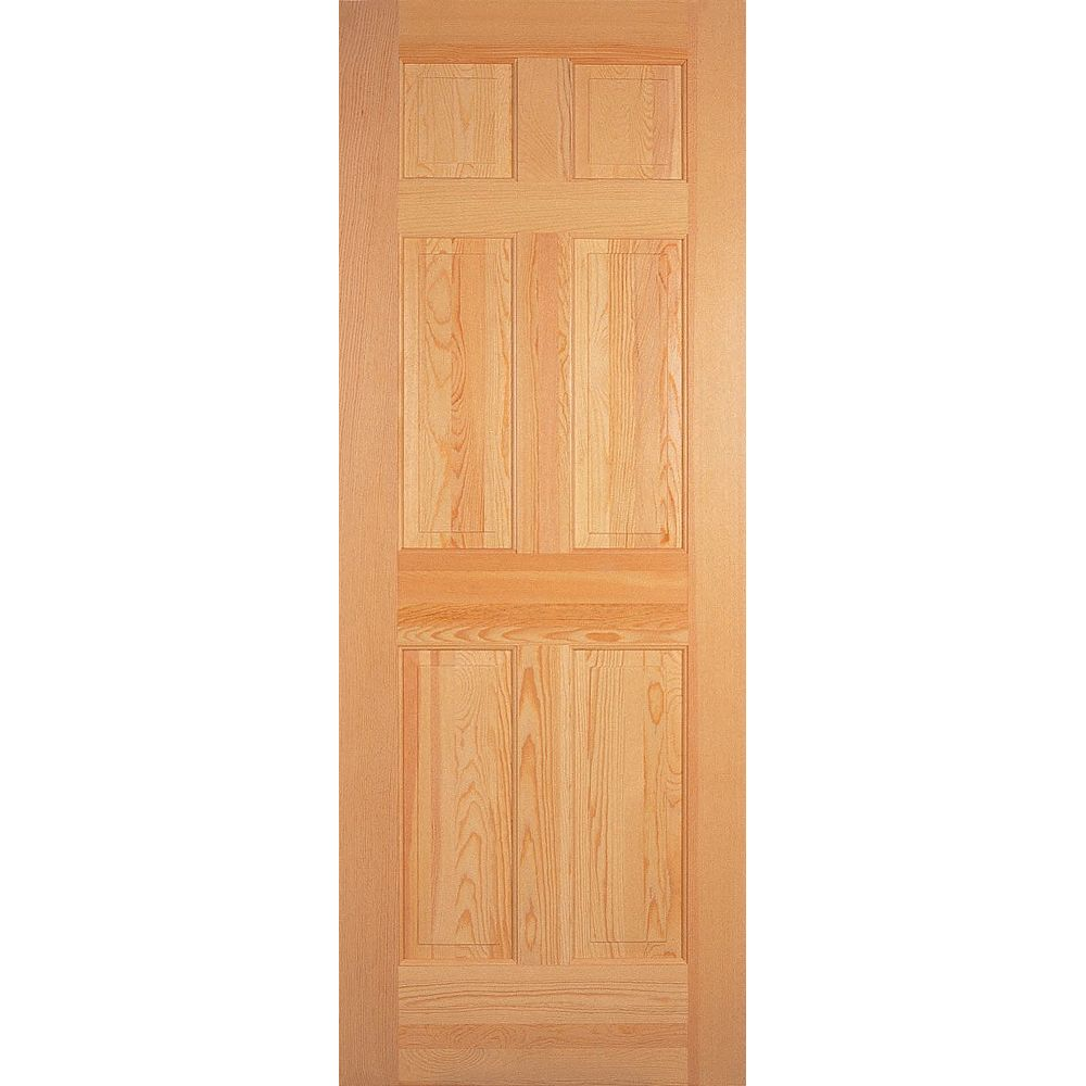 Masonite 24-inch x 80-inch 6-Panel Clear Pine Door