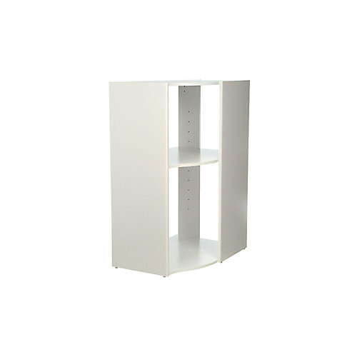Selectives 20-inch x 41.5-inch x 29-inch 3-Shelf Stackable Corner Organizer in White
