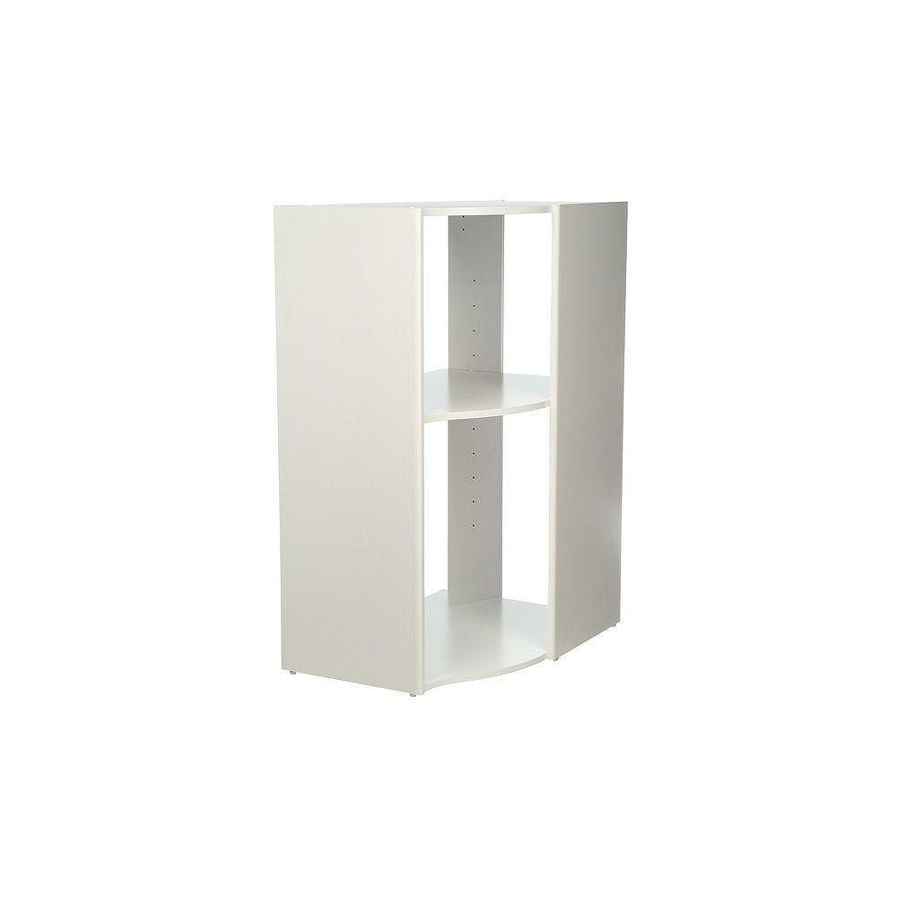 ClosetMaid Selectives 20-inch x 41.5-inch x 29-inch 3-Shelf Stackable Corner Organizer in White
