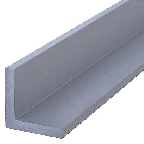 Paulin Cornière en aluminium de 1/16e de pouce x 3/4e de pouce x 3 pieds