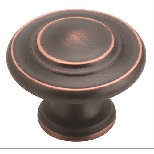 Amerock Inspirations 1-5/16-inch (33mm) DIA Knob - Oil-Rubbed Bronze