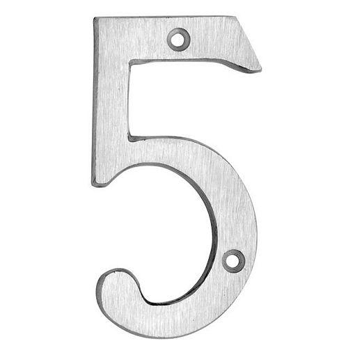 Taymor Numéro classique en aluminium brossé - 6 po