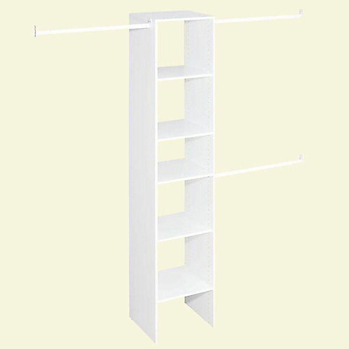 Selectives Narrow 4 ft. to 9 ft. Custom Closet Organizer in White