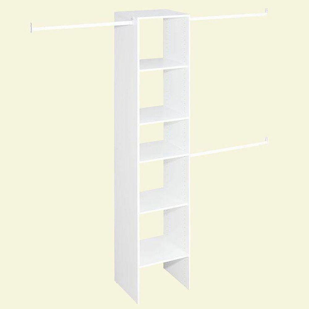 ClosetMaid Selectives Narrow 4 ft. to 9 ft. Custom Closet Organizer in White 703200
