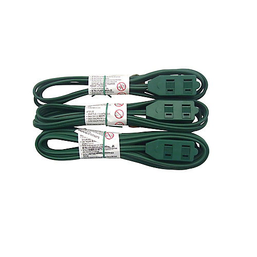 indoor light-duty extension cords (3-Pack)