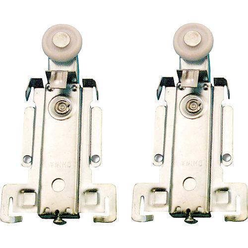 Roulette à suspension supérieure pour porte de placard