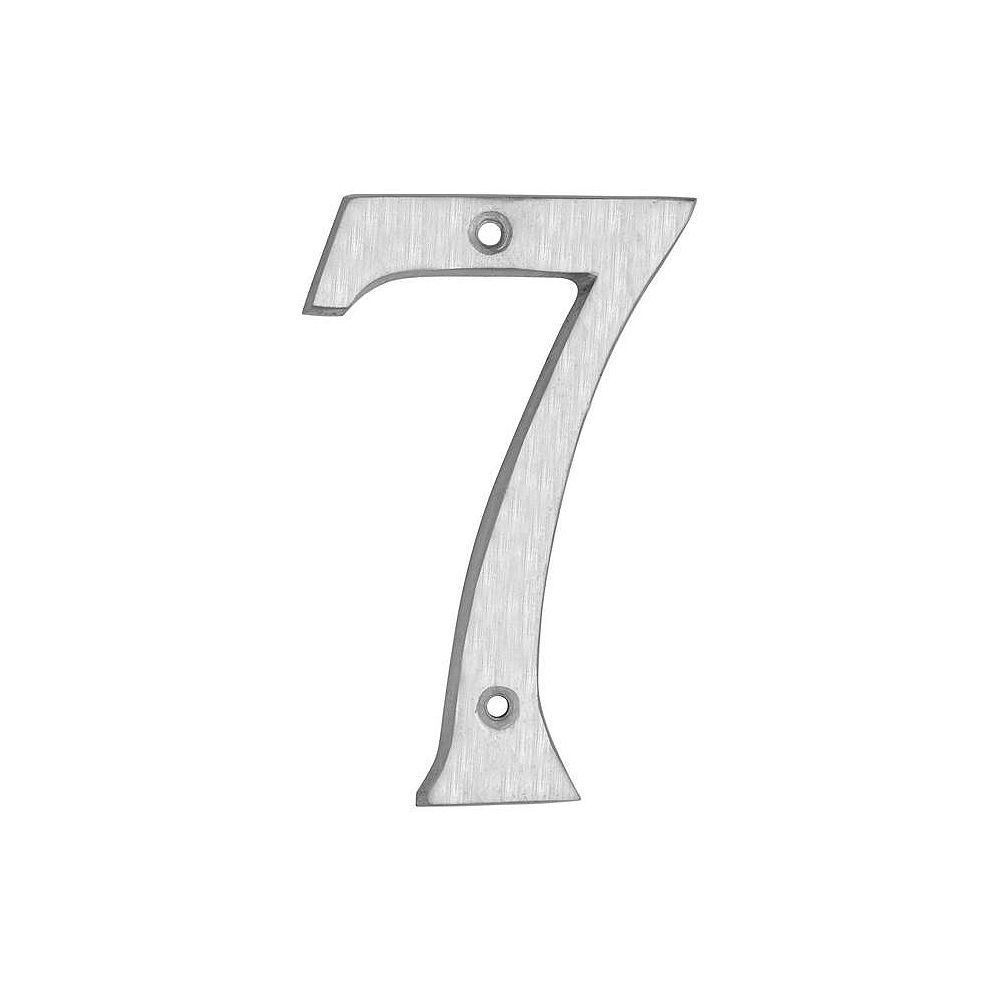 Taymor Brushed Aluminum Classic Number - 6 Inches.