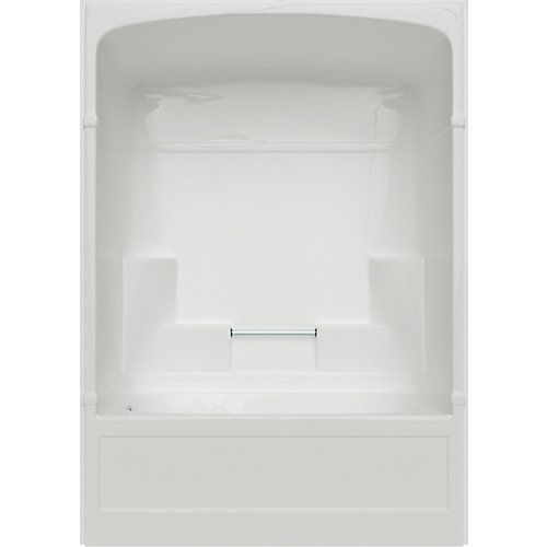 Empire 5-ft. 3-Piece Acrylic Multi Piece Tub and Shower left. Hand in White