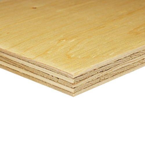 Alexandria Moulding 5/8 Inch  2 Feet x 4 Feet Standard Grade Spruce Plywood Handy Panel