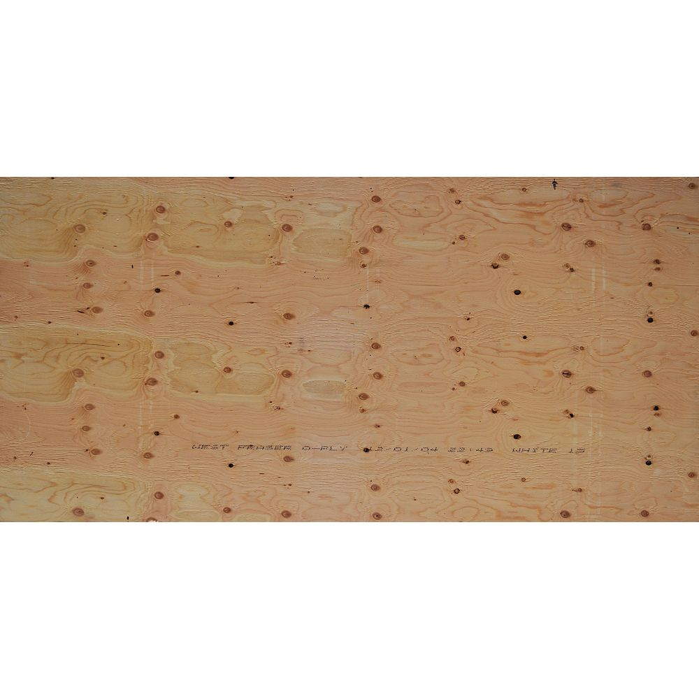West Fraser 5/8 inch 4 ftx8 ft Standard Fir Plywood Tongue & Groove