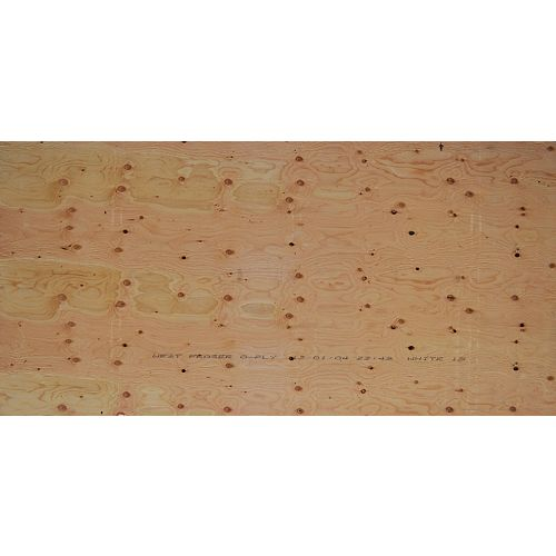 5/8 inch 4 ftx8 ft Standard Fir Plywood Tongue & Groove
