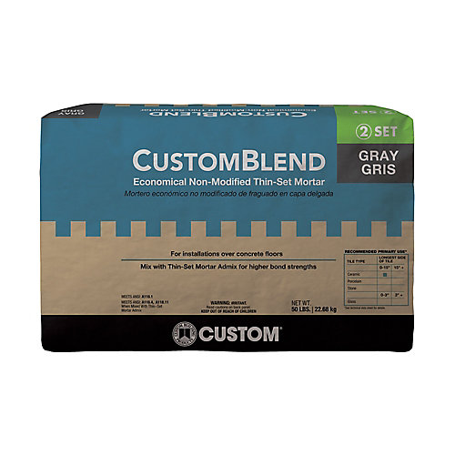 CustomBlend Standard Thin-Set Mortar Gray - 50 lb