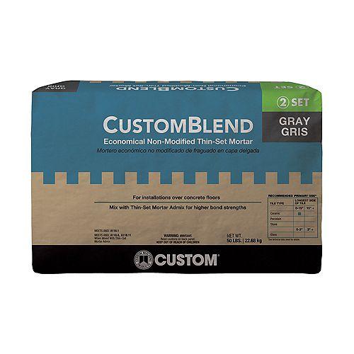 Custom Building Products CustomBlend Standard Thin-Set Mortar Gray - 50 lb