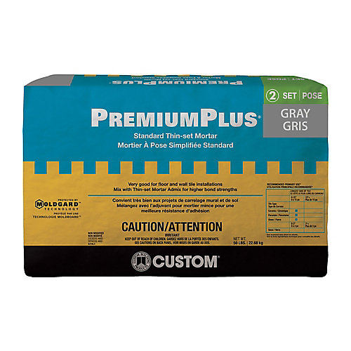 PremiumPlus Thin-Set Mortar Gray - 50lb