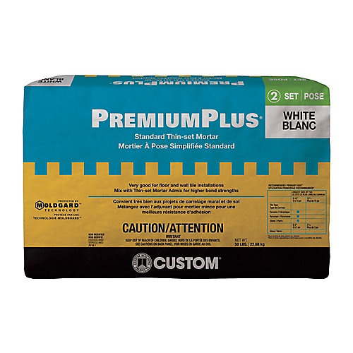 PremiumPlus Standard Thin-Set Mortar  White 22.68 Kg