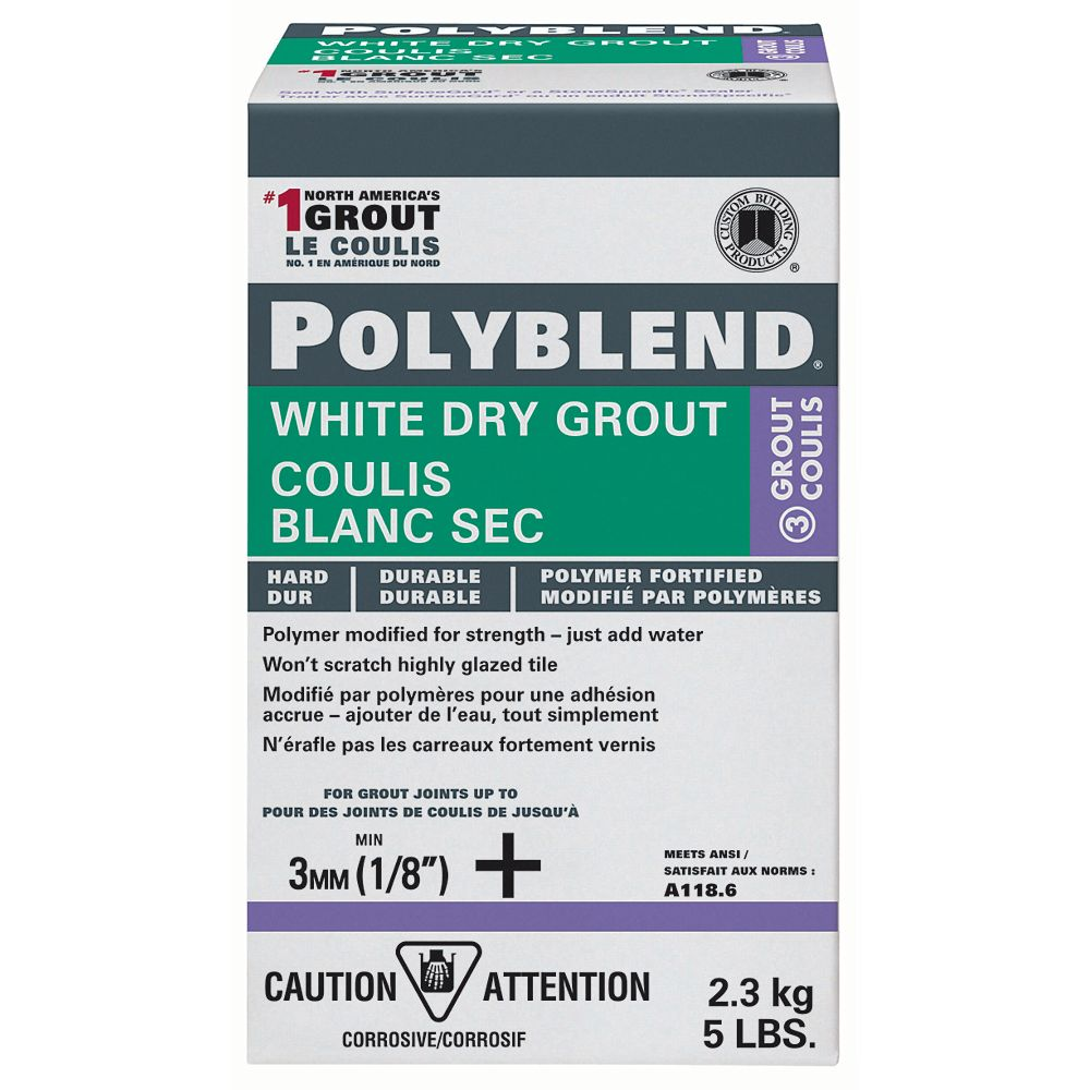Custom Building Products Polyblend White Dry Tile Grout - 5-lb