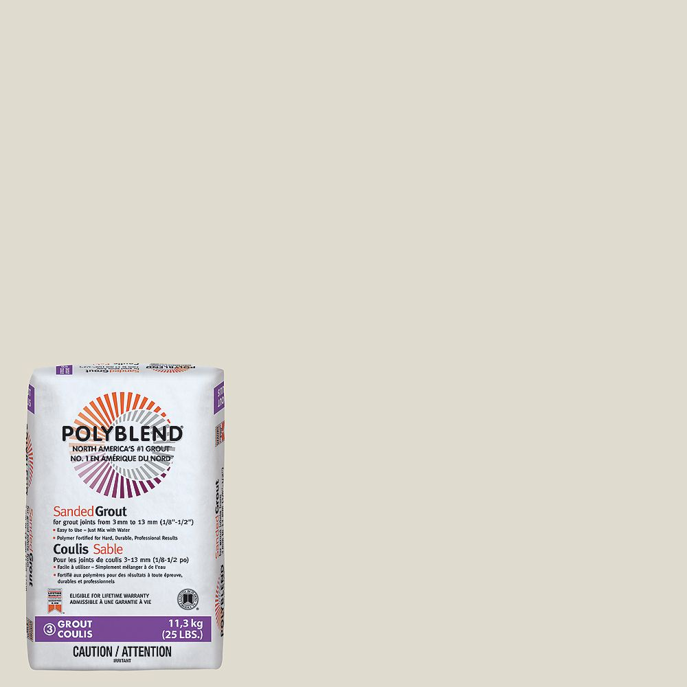 Custom Building Products #11 Snow White - Polyblend Sanded Grout - 25lb