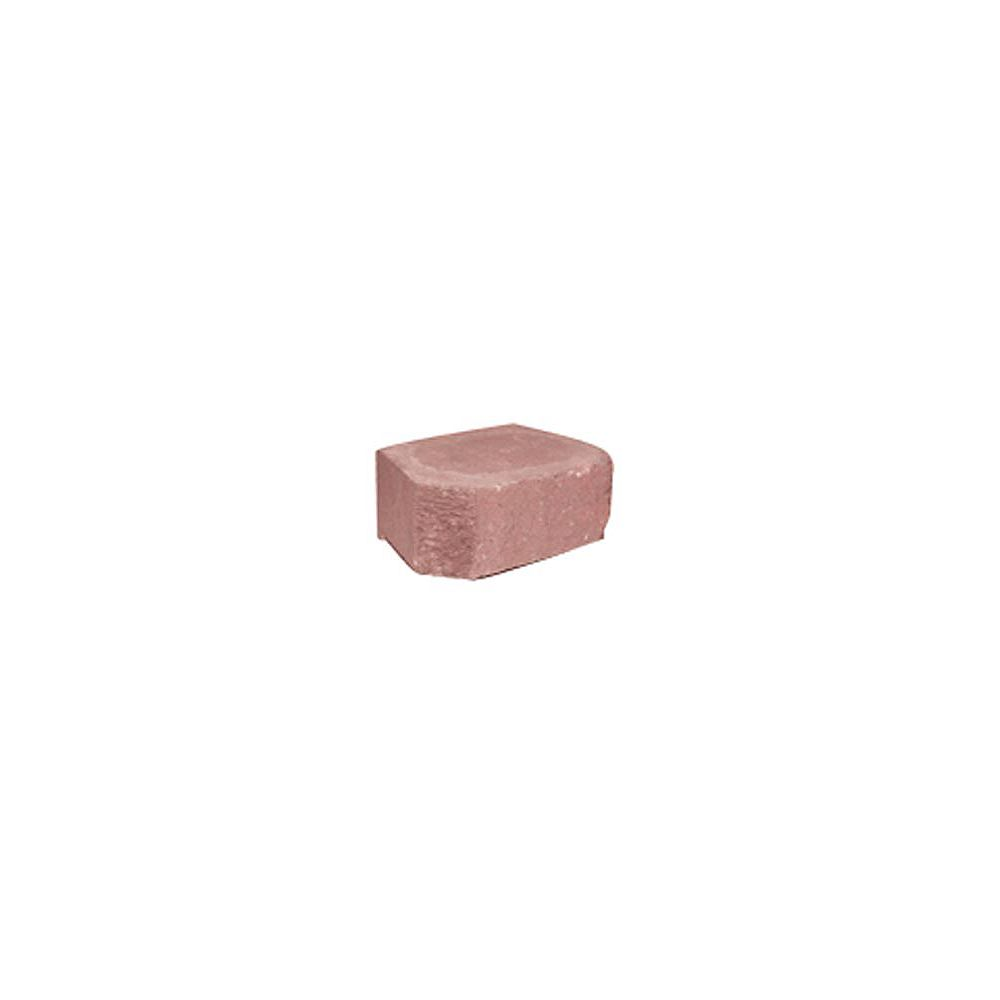 Decor Precast Range 8-inch Red Border Wall Block