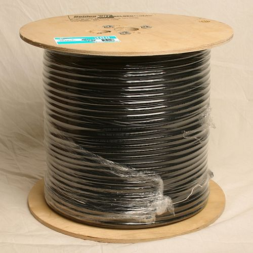 RG6 Coax Ft. 4 Rated Black Roll  - 300m