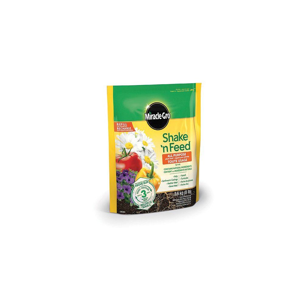 Miracle-Gro Shake N Feed engrais pour plantes tout usage 12-4-8 3.6 kg