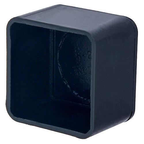 Capuchons de sécurité carrés de 3/4 pouce de diamètre extérieur