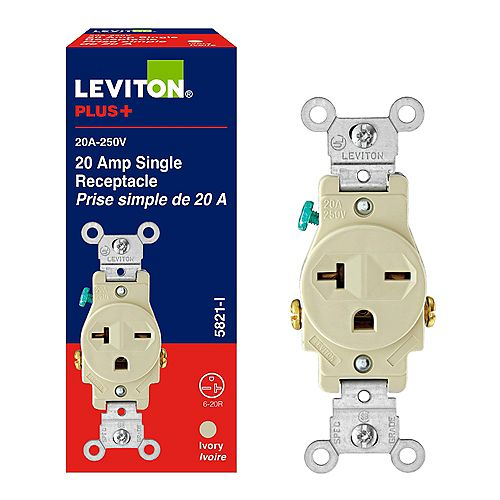 20 Amp Flush Receptacle, 250v/6-20r