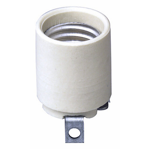 Porcelain Socket Medium Base, White
