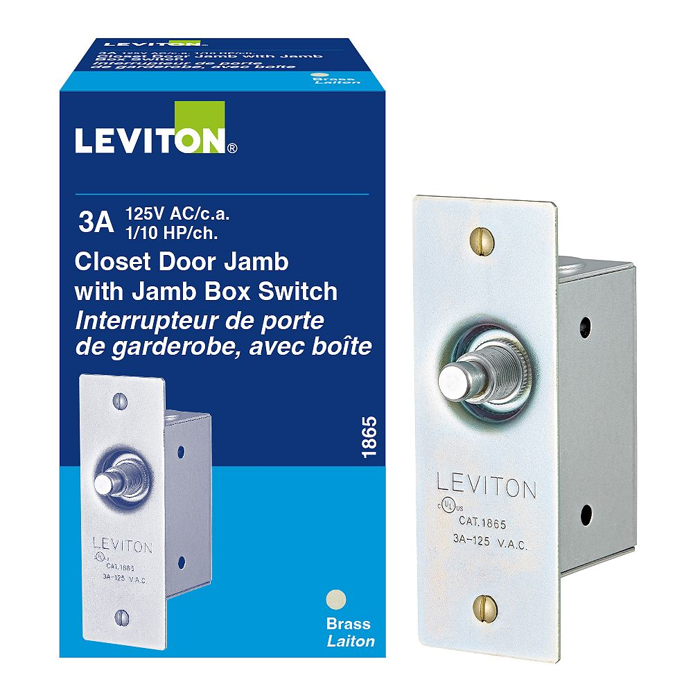 Leviton Momentary Door Switch The Home Depot Canada