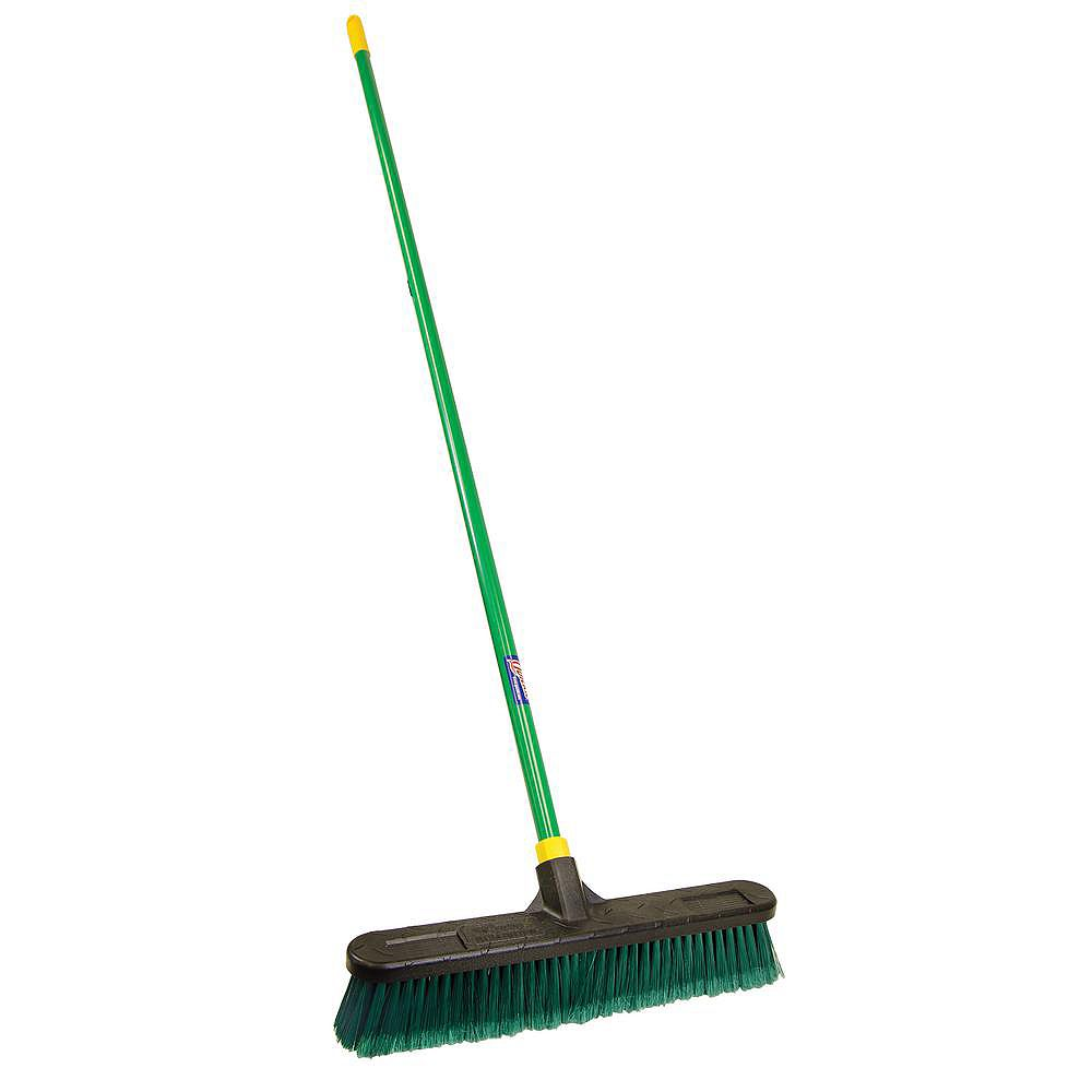 Quickie Bulldozer 18 Inch Indoor Outdoor Push Broom The Home Depot Canada
