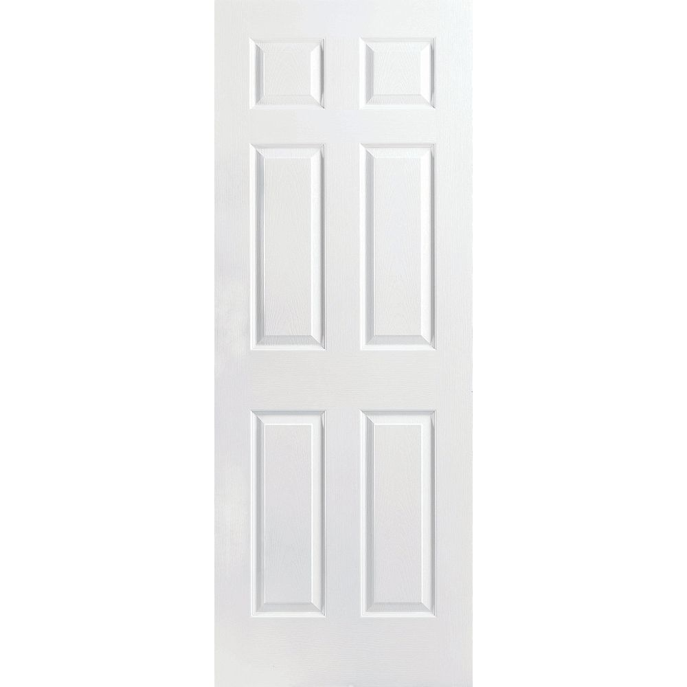 Safe 'N Sound Porte intérieure 6 panneaux texturés accoustisur 24 pouces x 80 pouces