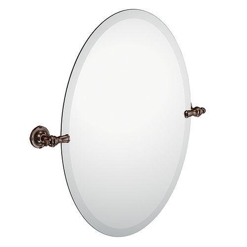 Gilcrest Oil Rubbed Bronze Mirror with Pivoting Decorative Hardware