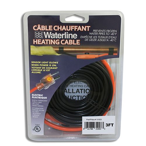 tuyau cable chauffant 3 pi